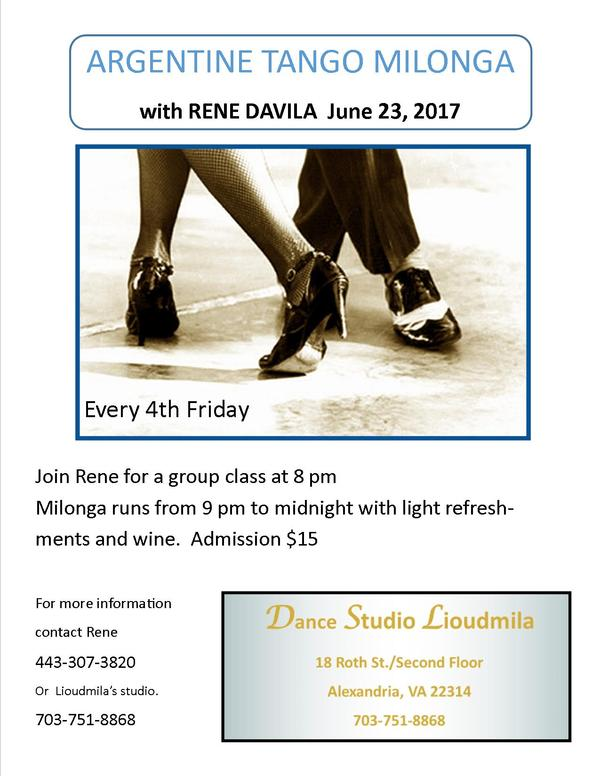 June Rene Milonga4th Friday